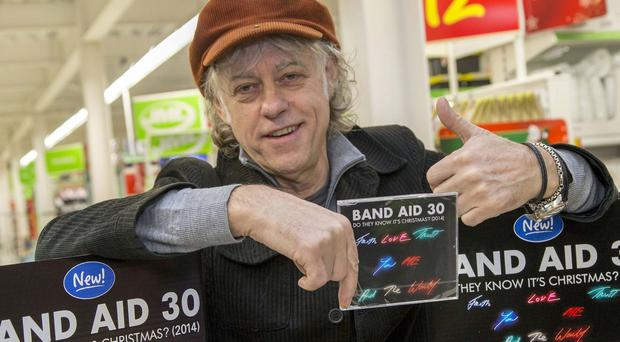 Bob Geldof has launched a new Band Aid 30 initiative