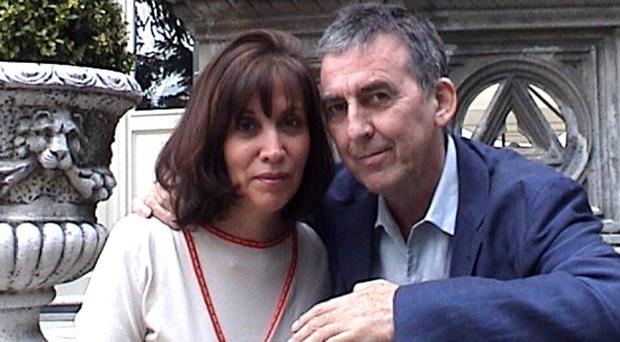 George Harrison with his wife, Olivia, before his death in 2001