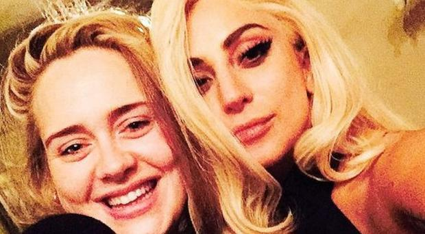 Adele and Lady Gaga have been pictured together (Lady Gaga/Instagram)