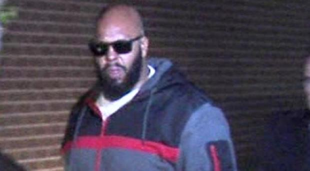 Death Row Records founder Marion 'Suge' Knight at the Los Angeles County Sheriff's department
