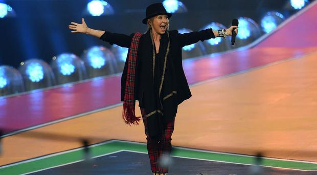 Lulu sang at the closing ceremony of the Commonwealth Games in Glasgow last summer