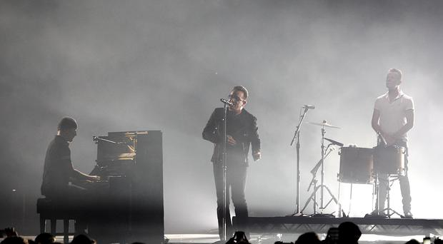 U2 are currently rehearsing