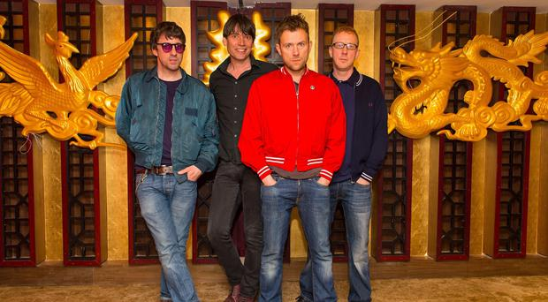 Blur - (left to right) Graham Coxon, Alex James, Damon Albarn and Dave Rowntree - are one of the headline acts for the Isle of Wight Festival in June