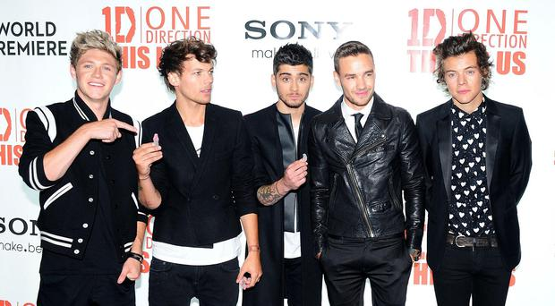 One Direction, pictured prior to Zayn Malik's shock departure
