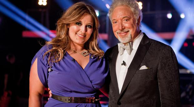 Leanne Mitchell, winner of the first series of The Voice, with mentor Sir Tom Jones