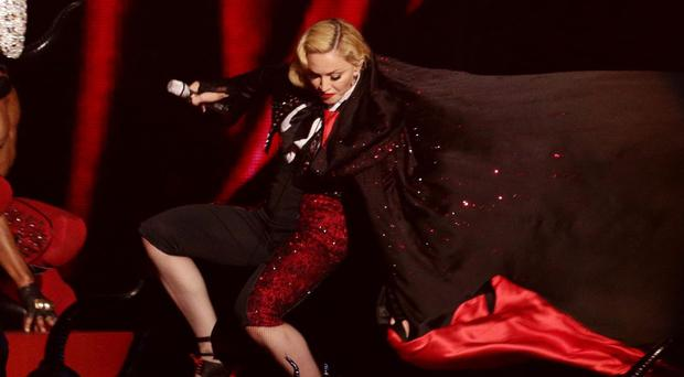 Madonna said it was a miracle she did not get hurt in the tumble