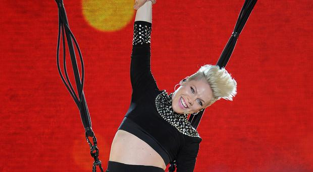 Pink has hit back after comments about her weight
