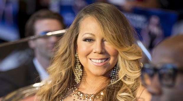 Mariah Carey at her official welcome to Caesars Palace in Las Vegas (Invision/AP)