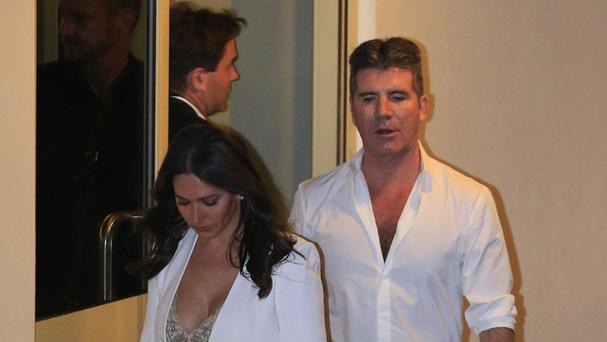 Simon Cowell and Lauren Silverman leave the Fountain Studios in Wembley after Britain's Got Talent.