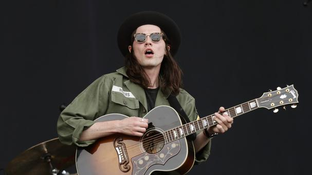 James Bay performs at the Isle of Wight Festival