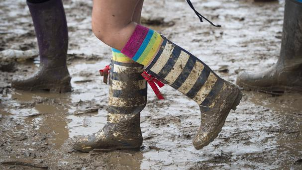 Wet weather is set to arrive at Glastonbury on Friday