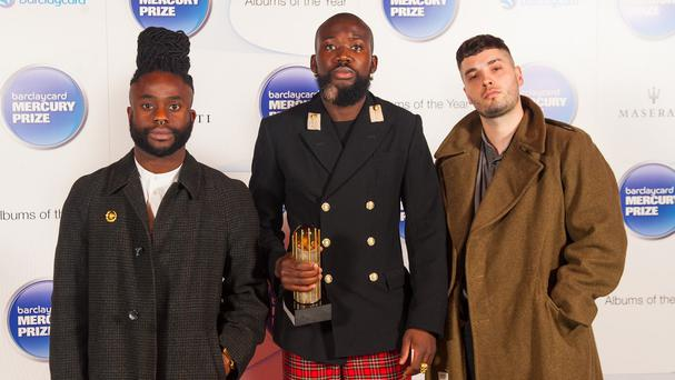 Winners of last year's Mercury Prize (left to right ) Alloysious Massaquoi, 'G' Hastings and Kayus Bankole of Young Fathers