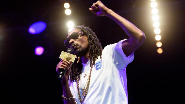 Snoop Dogg performs at the Lovebox festival in Victoria Park (Invision/AP)