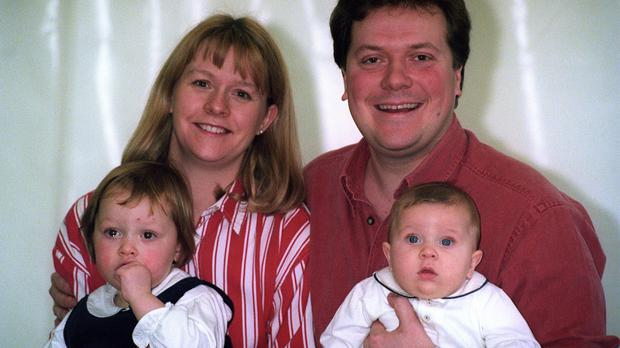 Sue and Alex Tatham, pictured with their children Charlie and Emily, met on Blind Date