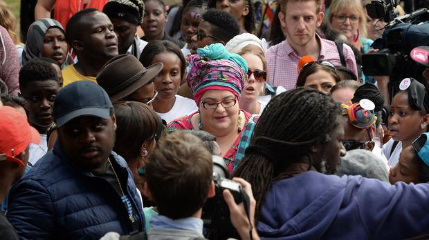 Camila Batmanghelidjh (centre) was the founder of the now defunct Kids Company