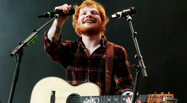 Ed Sheeran performs in concert at Croke Park, Dublin.