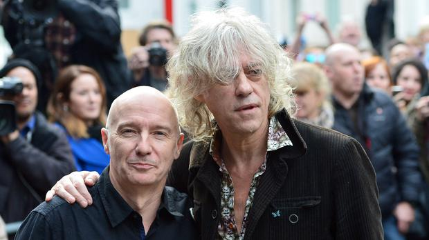 Midge Ure (left) and Bob Geldof were the instigators of the Band Aid project