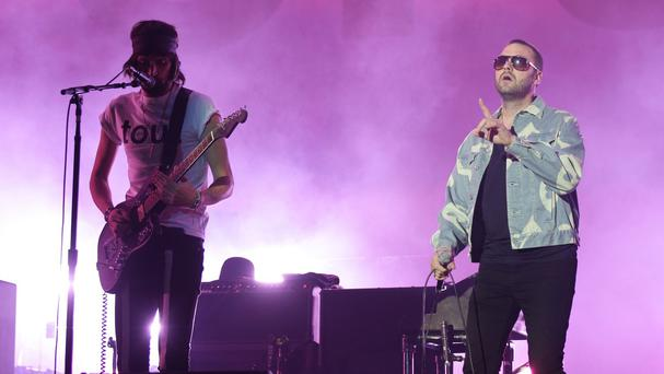 Kasabian headlining the V Festival