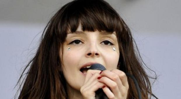 Lauren Mayberry of the Chvrches performs on the MTV stage during day one of the V Festival, at Hylands Park in Chelmsford, Essex.
