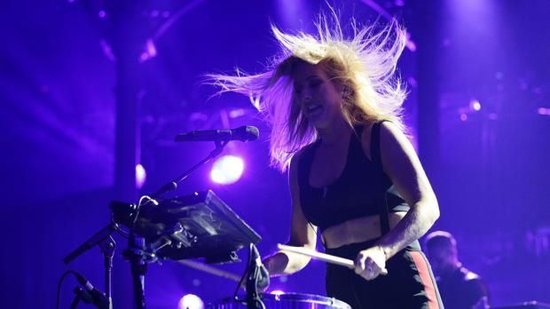 Ellie Goulding performing at the Apple Music Festival at the Roundhouse