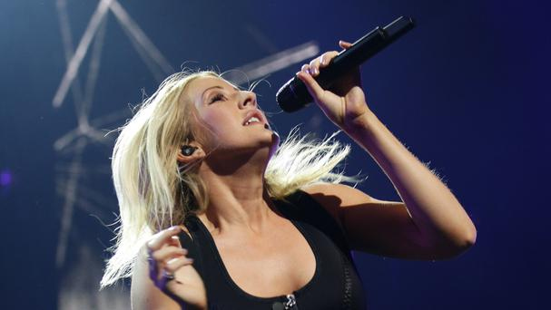 Ellie Goulding performing at the Apple Music Festival at the Roundhouse in Camden, London