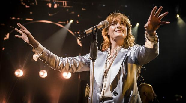 Florence Welch on stage at the Roundhouse in Camden