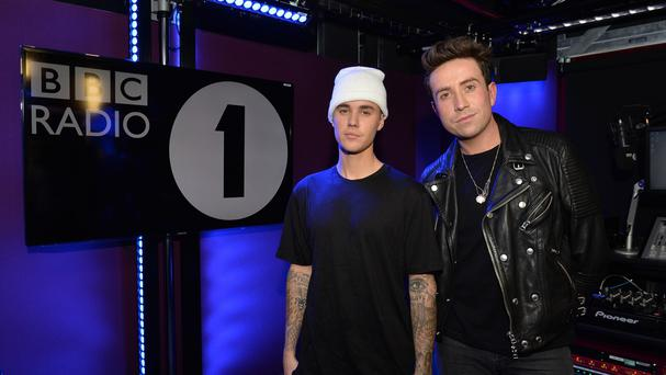 Justin Bieber was interviewed by Radio 1 DJ Nick Grimshaw (BBC/PA)