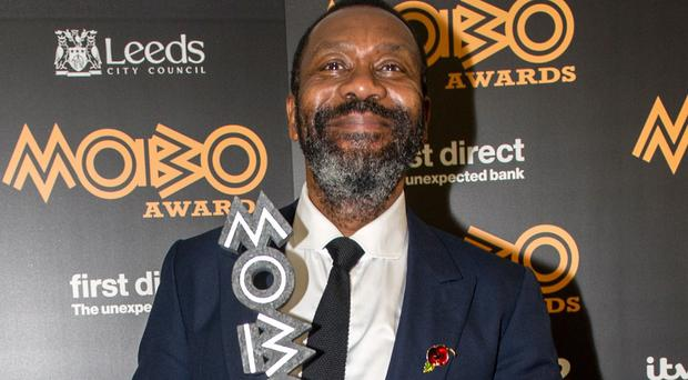 Sir Lenny Henry with his Paving The Way award