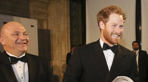 Prince Harry was hailed the king of banter at the Royal Variety Performance at the Albert Hall in London