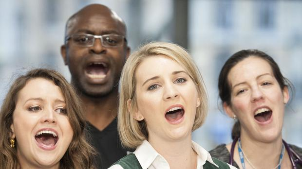 The Lewisham and Greenwich NHS Choir perform their song A Bridge Over You