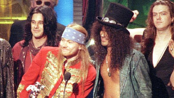 Relations between Axl Rose and Slash have long been strained. (AP)