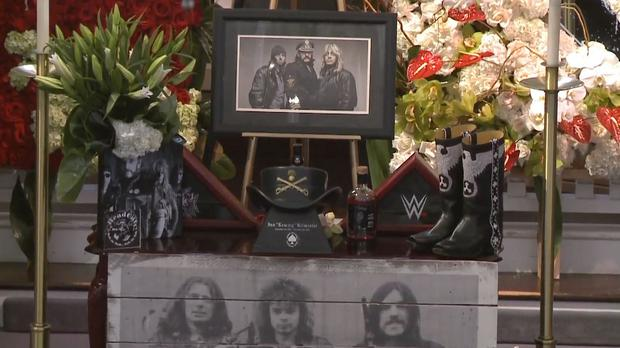 Lemmy's funeral was taking place at the Forest Lawn Memorial Cemetery in Los Angeles (|YouTube/PA)