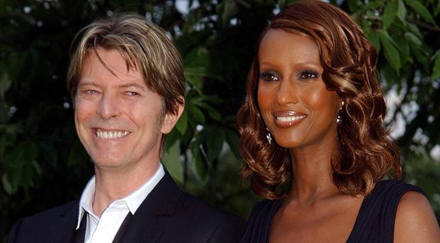 David Bowie and Iman, pictured in 2002