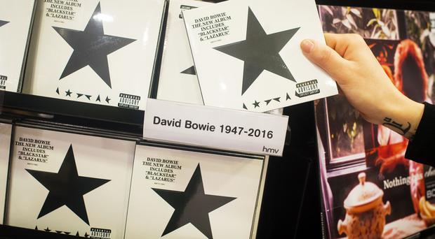 David Bowie's Blackstar has topped the album chart for a second week