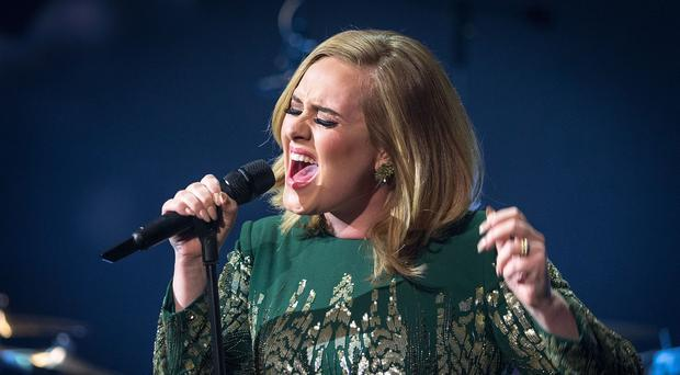 Adele was named as the most popular recording artist across the globe in 2015 (BBC)