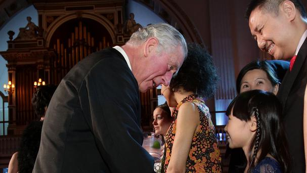 The Prince of Wales meets Charlotte Kwok