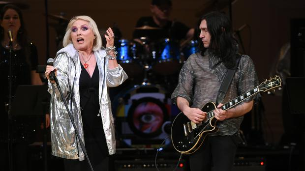 Debbie Harry performs at the David Bowie tribute concert at Carnegie Hall in New York (AP)