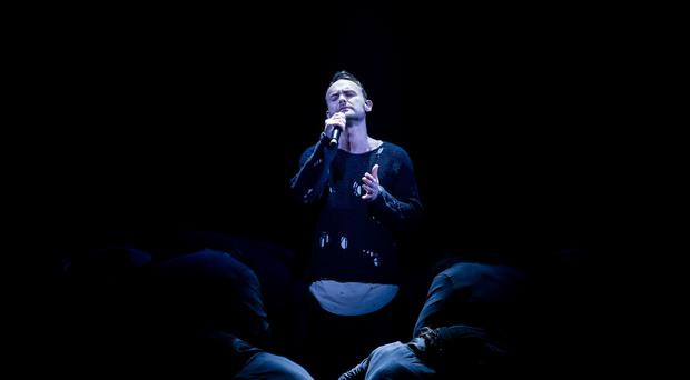 Kevin Simm performs during the final of The Voice (BBC/PA)