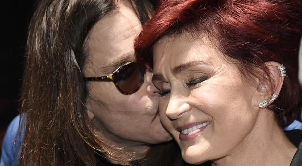 Ozzy Osbourne and his wife Sharon (AP)