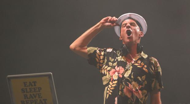 Fatboy Slim performed for babies, toddlers and their parents