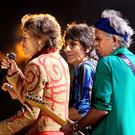 The Rolling Stones surprised a fan at an exhibition