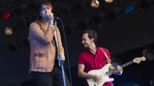 The American rock band unveiled their new track Oblivius on lead singer Julian Casablancas' (left) new radio show Culture Void