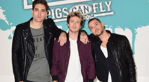 Left to right, Busted's Charlie Simpson, James Bourne and Matt Willis