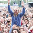 Revellers at the Isle of Wight Festival