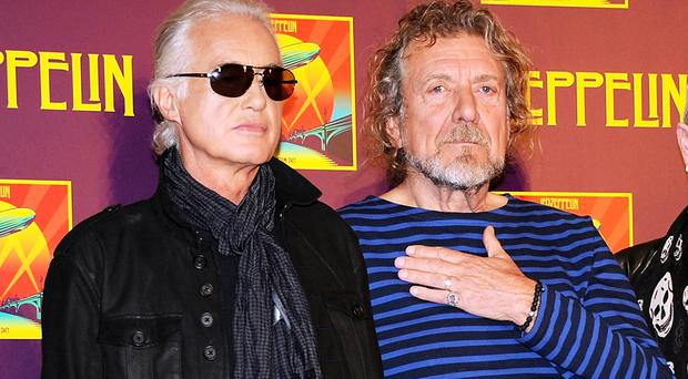 Jimmy Page, left, with Robert Plant, told the court he
