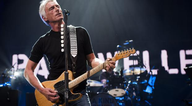 """File photo dated 31/03/17 of Paul Weller on stage during a fundraising concert for the Teenage Cancer Trust at the Royal Albert Hall, as the singer has revealed his upcoming album will be a """"call for peace""""."""