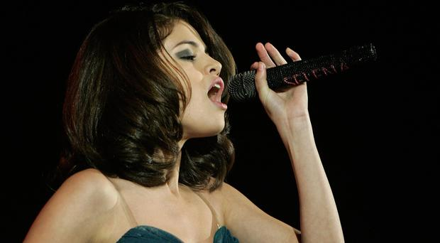 Selena Gomez performs at HMV Hammersmith Apollo, Hammersmith, London.