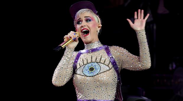 Katy Perry at Glastonbury (Yui Mok/PA)
