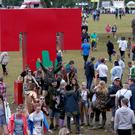 Festivalgoers during the second day of T in the Park, the annual music festival held at Strathallan Castle, Perthshire.