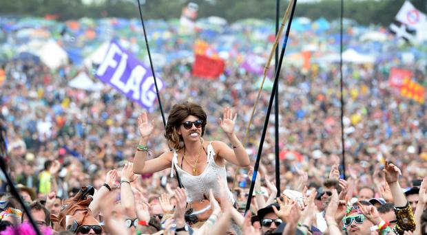 Crowd at Glastonbury (Ben Birchall/PA)